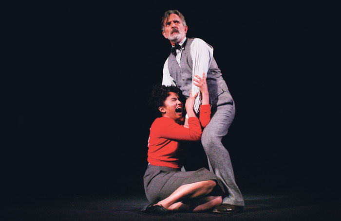 Chipo Chung and Martin Turner in The Haunting of Hill House. Photo: Gary Calton