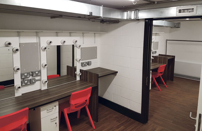 The redeveloped building includes 16 dressing rooms