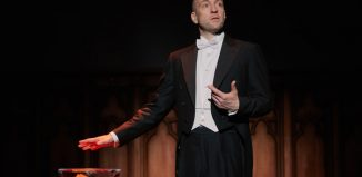 Derren Brown in Underground at Playhouse Theatre, London. Photo: Mark Douet