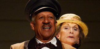 Derek Griffiths and Sian Phillips in Driving Miss Daisy at Richmond Theatre, London. Photo: Nobby Clark