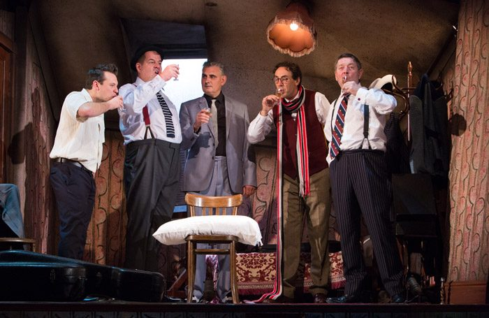 The cast of The Ladykillers at New Wolsey Theatre, Ipswich. Photo: Mike Kwasniak