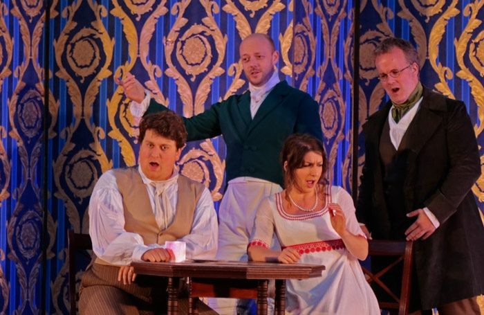 The cast of The School of Jealousy at St John's Smith Square. Photo: Anthony Hall/Bampton Classical Opera