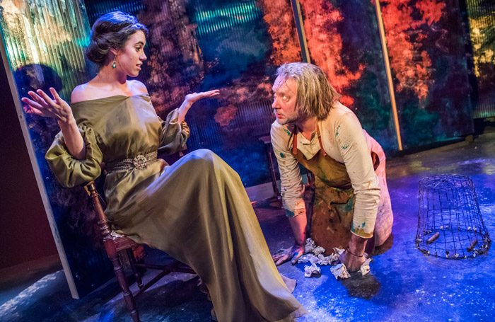 Gala Gordon and Jasper Britton in The Blinding Light at Jermyn Street Theatre, London. Photo: Tristram Kenton