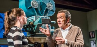 Rebecca Night and Robert Lindsay in Prism at Hampstead Theatre, London. Photo: Tristram Kenton