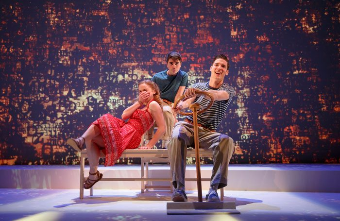 Juliet Brett, Noah Galvin and Pico Alexander in AR Gurney's What I Did Last Summer at Signature Theatre, New York, in 2015. Photo: Joan Marcus