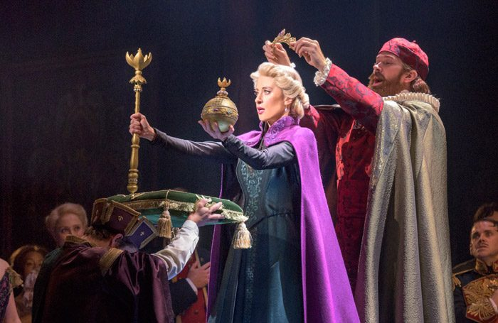 The company of Disney's Frozen at Denver Center for the Performing Arts. Photo: Deen van Meer