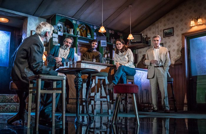 The cast of The Weir at Mercury Theatre, Colchester. Photo: Marc Brenner