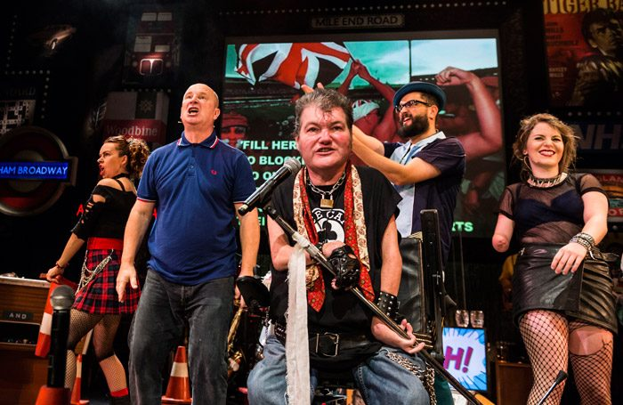 The cast of Graeae's Reasons to be Cheerful at Derby Theatre