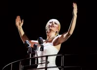 Emma Hatton as Eva Peron in Evita at the Phoenix Theatre, London. Photo: Pamela Raith