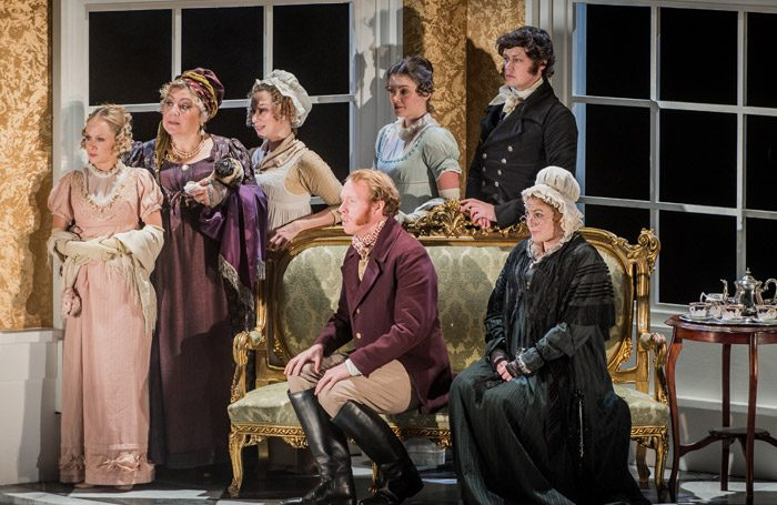The cast of the Grange Festival production of Mansfield Park. Photo: Robert Workman