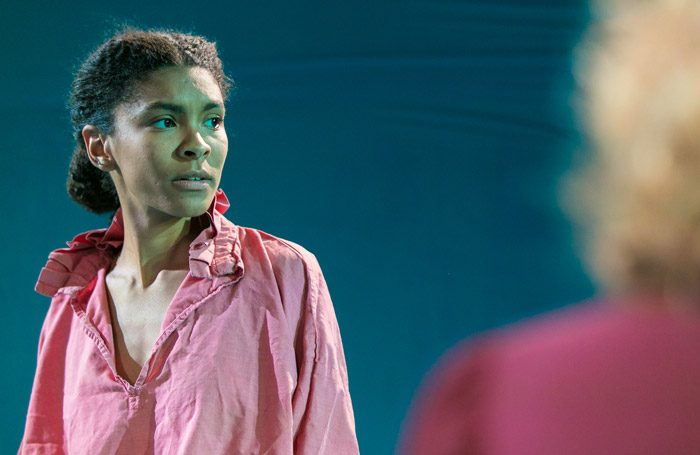 Thalissa Teixera in The Unknown Island at Gate Theatre, London. Photo: Cameron Slater