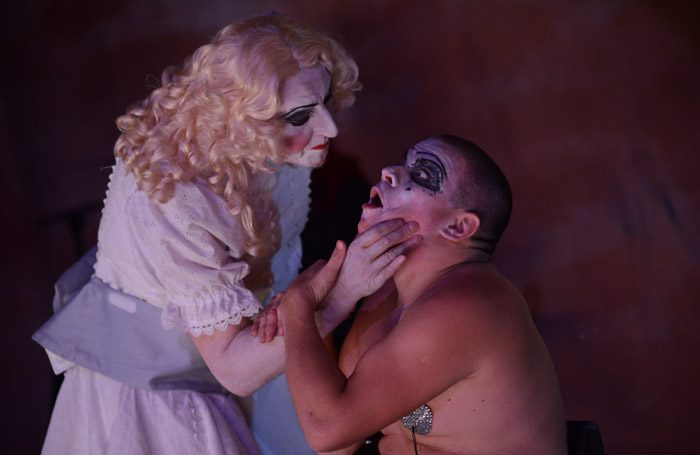 Kinny Gardner and Robert Softley Gale in Blanche and Butch at the Tron Theatre, Glasgow