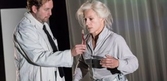 David Emmings and Juliet Stevenson in Wings at Young Vic, London. Photo: Johan Persson