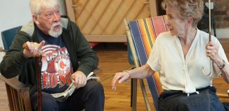 David Whitworth and Susan Tracy in rehearsal for Two's Company's revival of A Day by the Sea at Southwark Playhouse