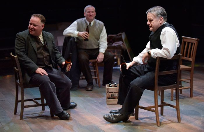 The cast of The Pitmen Painters at New Vic, Newcastle-under-Lyme. Photo: Joel Chester Fildes