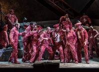 The WNO chorus in Khovanshchina at Wales Millennium Centre, Cardiff. Photo: Clive Barda