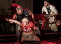 Scene from The Golden Dragon at Sherman Theatre, Cardiff. Photo: Clive Barda