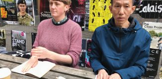International Co-Lab participants Eilidh MacAskill and Dick Wong. Photo: West Kowloon Cultural District Authority