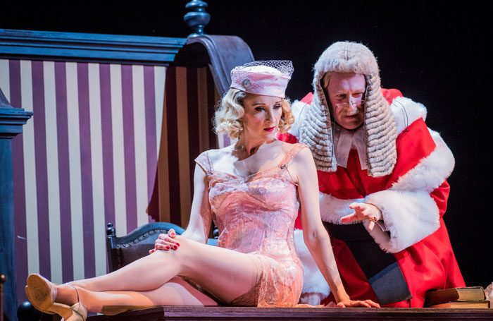 Amy Freston and Jeremy Peaker in Opera North's Trial by Jury. Photo: Robert Workman