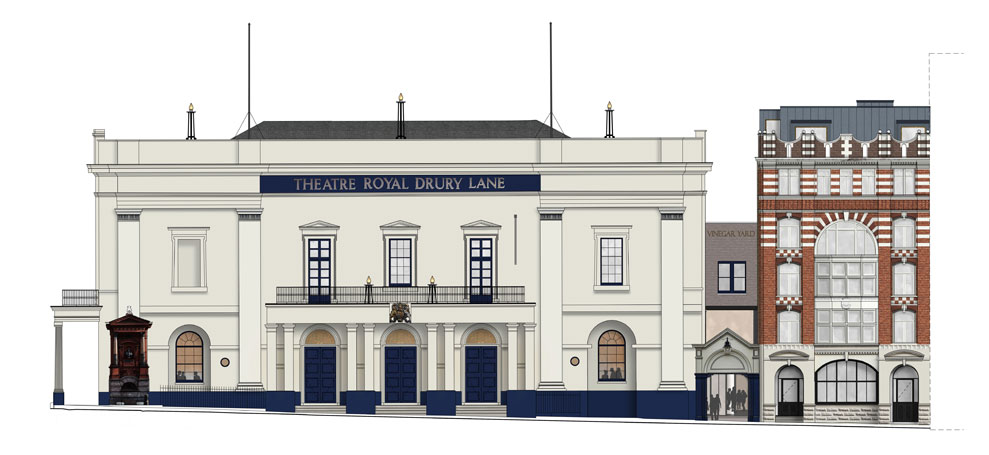 Architect's drawing of the proposed redevelopment of Theatre Royal Drury Lane. Photo: Haworth Tompkins Architects