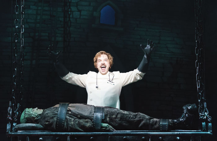 Hadley Fraser and Shuler Hensley in Young Frankenstein. Photo: Manuel Harlan