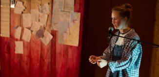 Erin Doherty in My Name Is Rachel Corrie at the Young Vic, London. Photo: Ellie Kurrtz