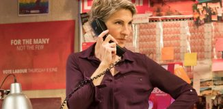 Tamsin Greig in Labour of Love. Photo: Johan Persson
