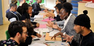 A project planning session as part of the Agency scheme for young entrepreneurs. Photo: Rob Logan