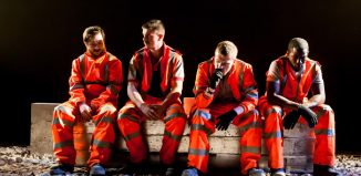 The cast of 31 Hours at the Bunker, London. Photo: Lidia Crisafulli