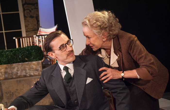 John Sackville and Susan Tracy in A Day By The Sea at Southwark Playhouse, London. Photo: Phillip Gammon