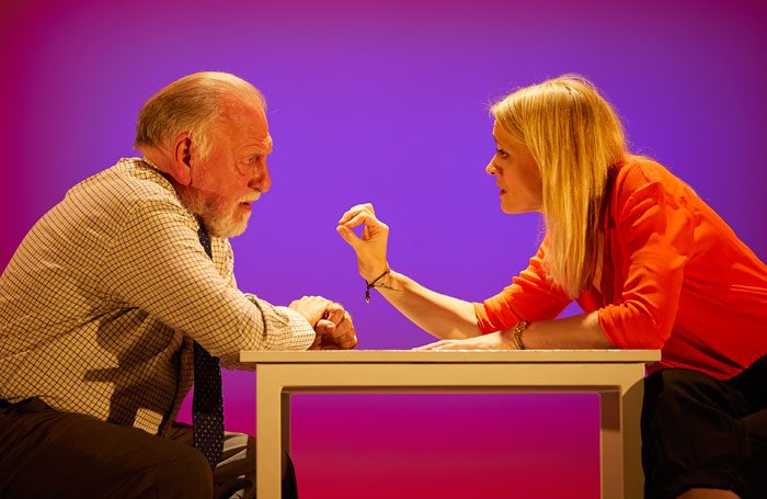 Anne-Marie Duff and Kenneth Cranham in Heisenberg: The Uncertainty Principle. Photo: Brinkhoff/Moegenburg