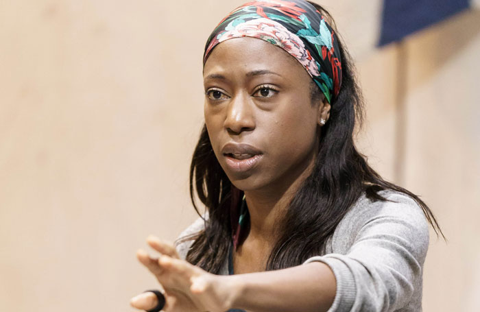 Nikki Amuka-Bird in rehearsal at the Donmar Warehouse. Photo: Manuel Harlan