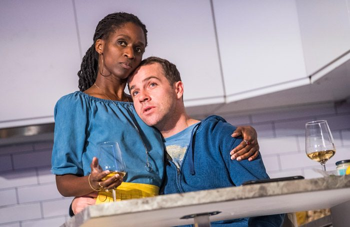 Sharon Duncan-Brewster and Jonjo O'Neill in victory Condition at the Royal Court, London. Photo: Tristram Kenton