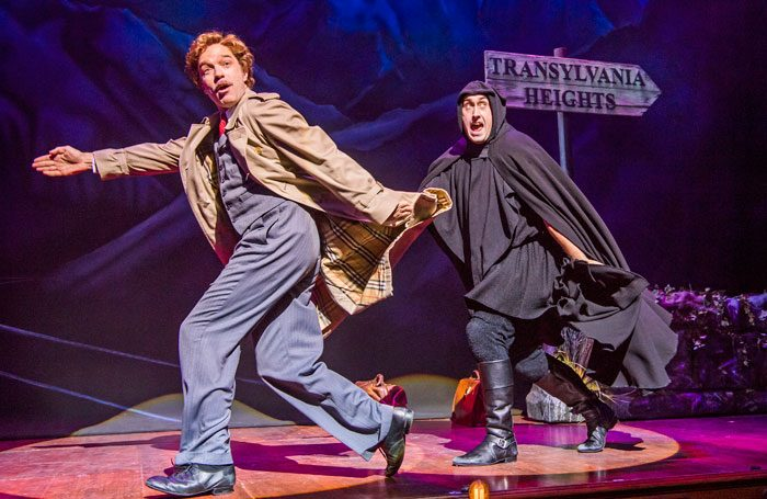 Hadley Fraser and Ross Noble in Young Frankenstein at the Garrick Theatre. Photo: Tristram Kenton