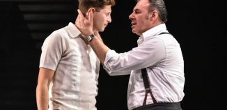 Cary Crankson and Sean Chapman in All My Sons at Nottingham Playhouse. Photo: Robert Day
