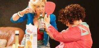 Nicola Reynolds in The Rise of Fall of Little Voice at Theatr Clwyd. Photo: Manuel Harlan