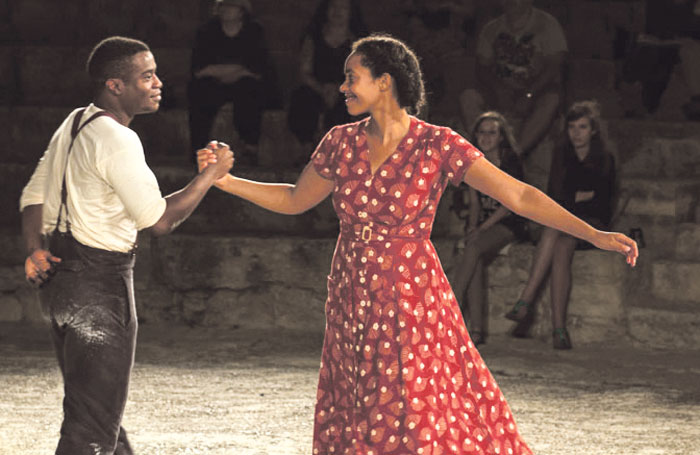Dromgoole sent Hamlet, starring Ladi Emeruwa and Amanda Wilkin, around the world in his farewell to the Globe before setting up a film production company. Photo: Helena Miscioscia