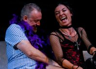 Sean McKenzie and Jessica Johnson in Goth Weekend at Live Theatre. Photo: Tony Bartholomew