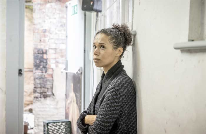 Vinette Robinson in Albion rehearsal at the Almeida Theatre