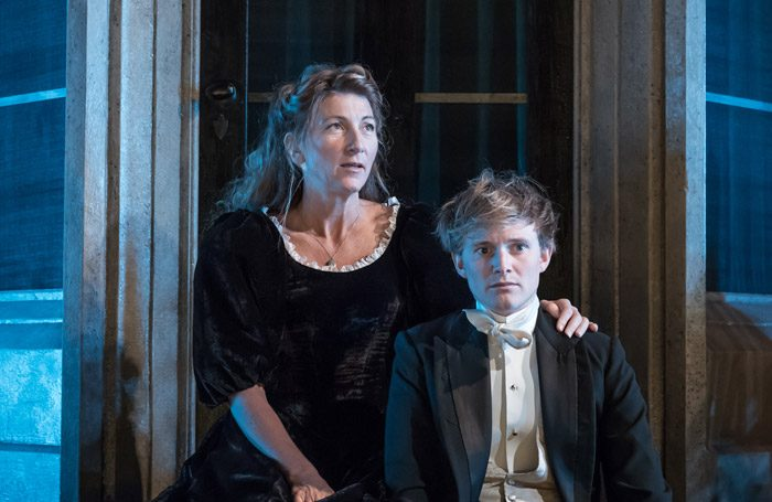 Eve Best and Harry Lister-Smith in A Woman of No importance at Vaudeville Theatre, London. Photo: Marc Brenner