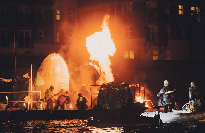 Scenes from Flood, produced by Hull UK City of Culture 2017 and Slung Low, in which citizen performers worked alongside a core cast of professionals. Photo: Thomas Arran