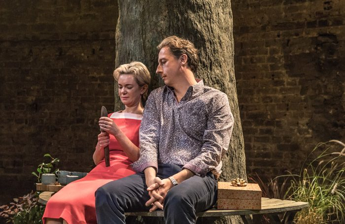 Victoria Hamilton and Nicholas Rowe in Albion at the Almeida Theatre, London. Photo: Marc Brenner