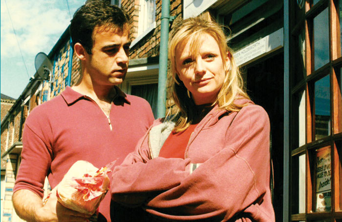Brabin with Michael Le Vell in Coronation Street in 1996. Photo: Granada Television