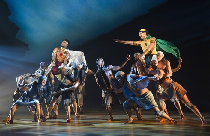 The cast of The Prince of Egypt at Mountainview Center for the Performing Arts, California. Photo: Kevin Berne