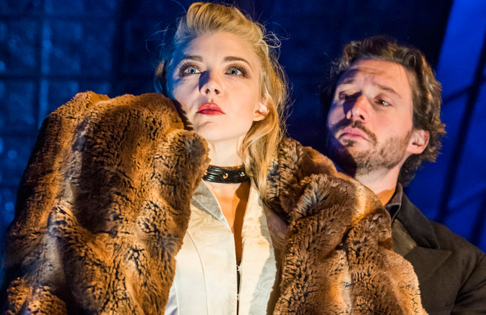 Natalie Dormer and David Oakes in Venus in Fur. Photo: Tristram Kenton