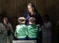 Lisa Davidsen, Rioch Kinsella and Anthony Keller in Medea at Wexford opera House. Photo: Clive Barda