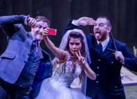 The cast of The Threepenny Opera at Octagon Theatre, Bolton. Photo: Richard Davenport