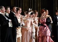 The cast of Scottish Opera's La Traviata. Photo: Jane Hobson