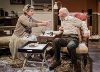 Issy van Randwyck and Clive Merrison in Anything That Flies at Jermyn Street Theatre, London