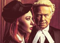 Catherine Steadman and David Yelland in Witness for the Prosecution at London County Hall. Photo: Idil Sukan